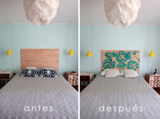 antes-despues-cabecera-cama-tropical-diy copia